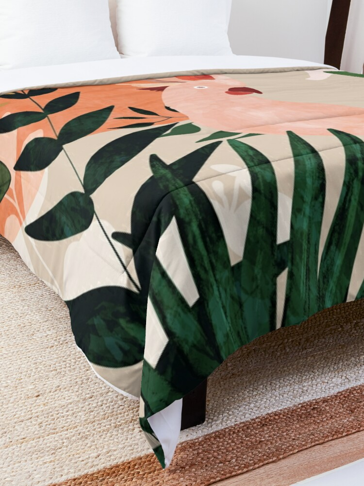 Alternate view of Cockatoo jungle modern Comforter