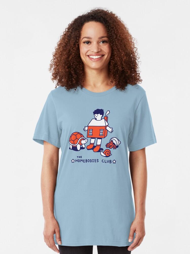 Alternative Ansicht von Der Homebodies Club Slim Fit T-Shirt