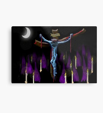 Procession in Passion Week Metal Print