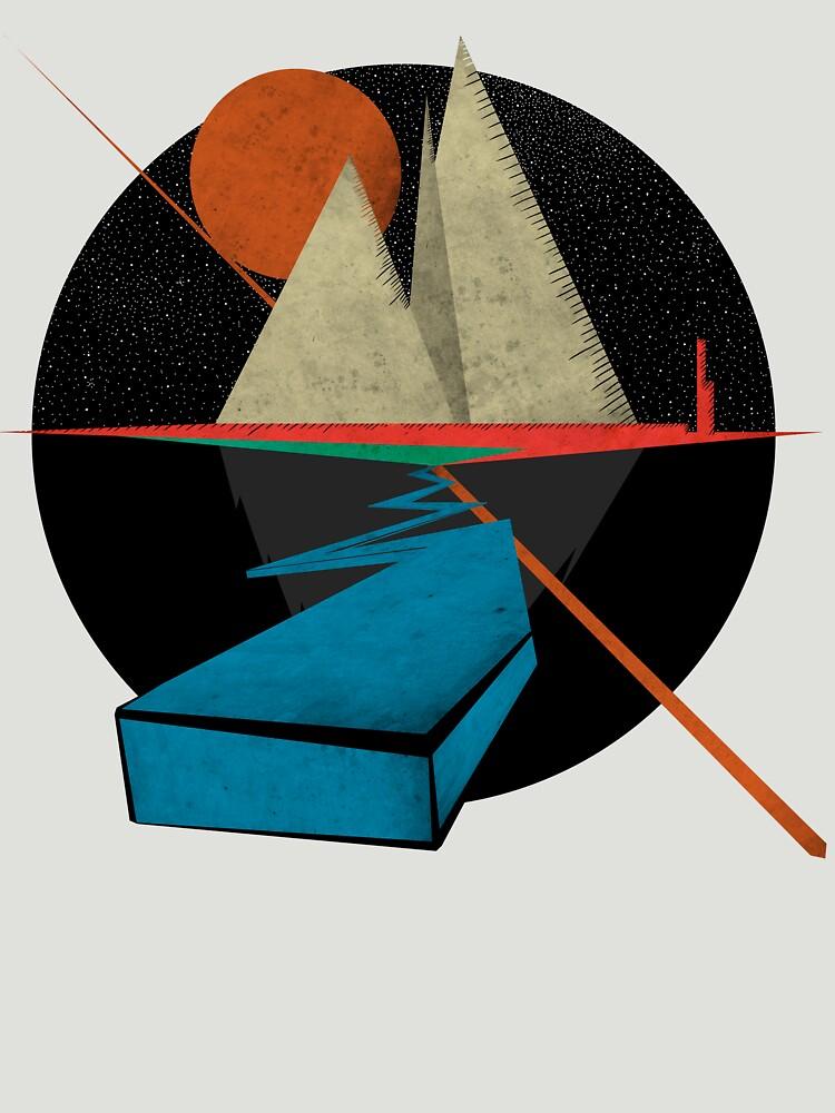 Mountain & Stars   Unisex T-Shirt