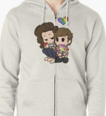 Happy Strong Day Zipped Hoodie