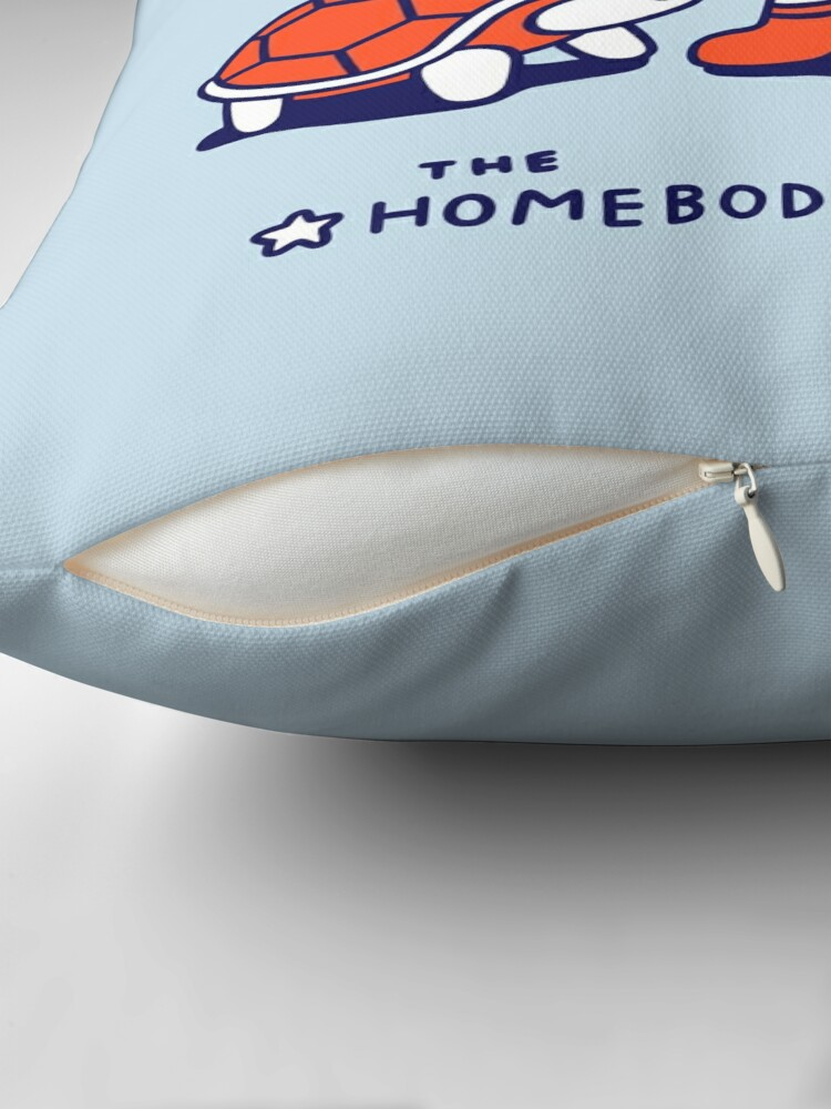 Alternate view of The Homebodies Club Throw Pillow