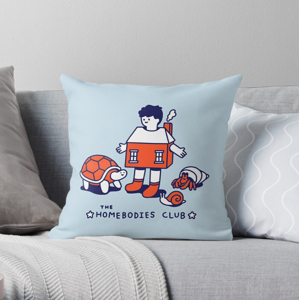 The Homebodies Club Throw Pillow