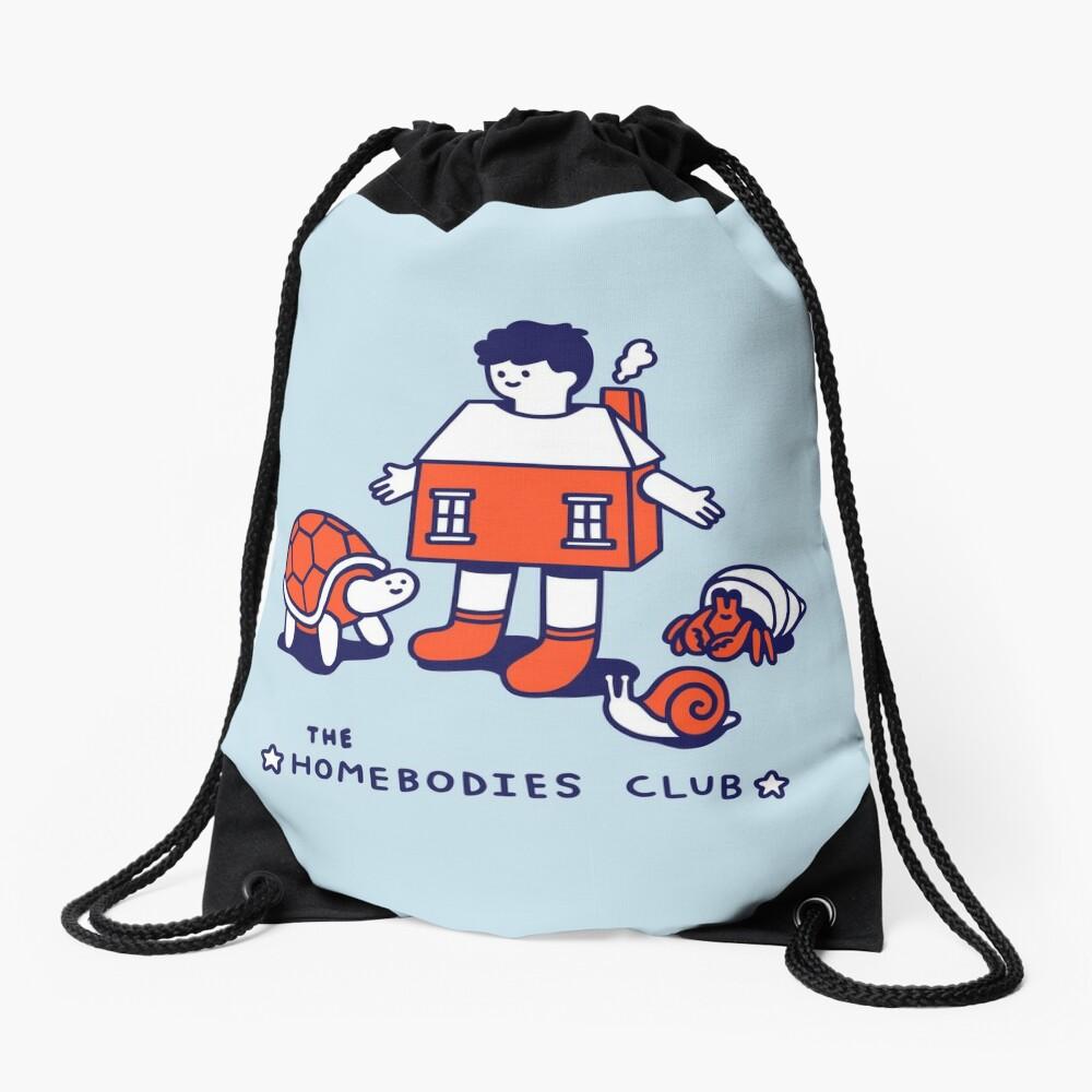 The Homebodies Club Drawstring Bag