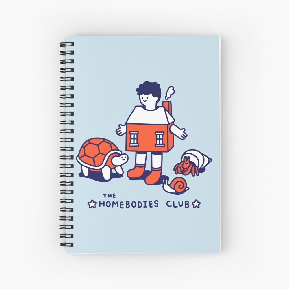 The Homebodies Club Spiral Notebook