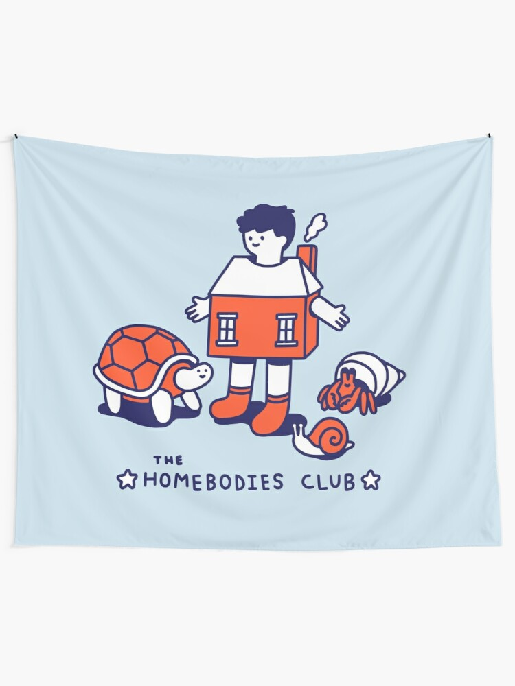 Alternate view of The Homebodies Club Tapestry