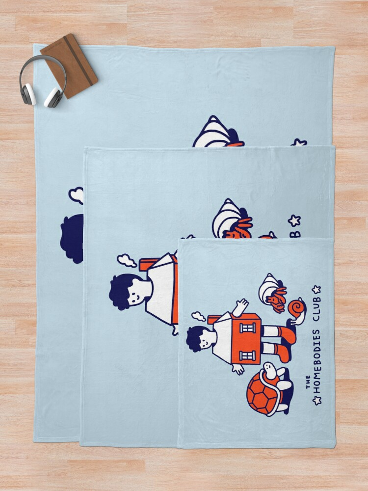 Alternate view of The Homebodies Club Throw Blanket