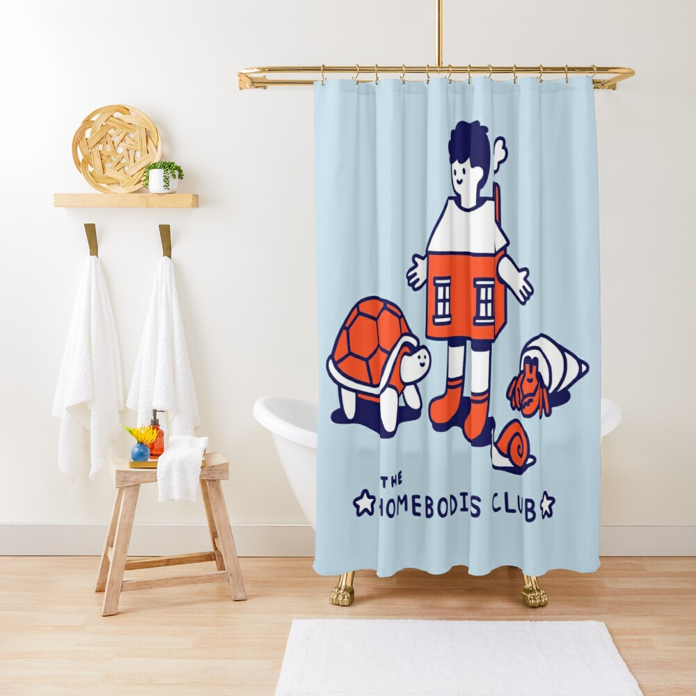 The Homebodies Club Shower Curtain