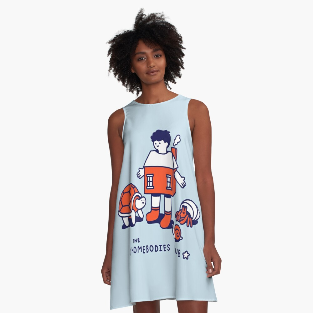 The Homebodies Club A-Line Dress