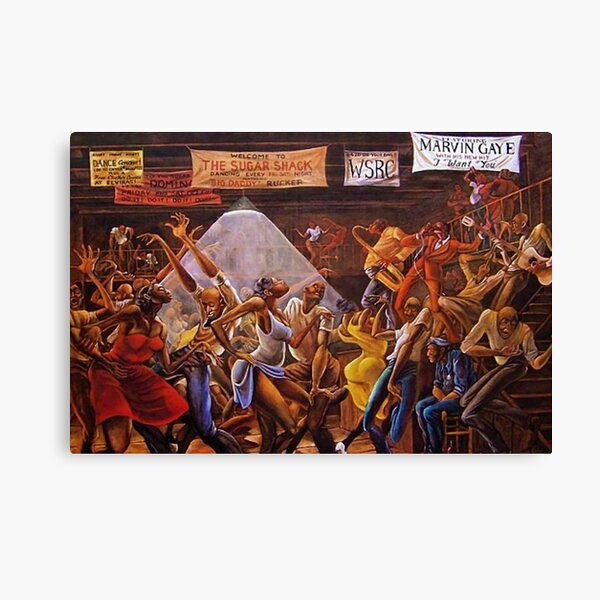 Classical 1970's African American Masterpeace 'Sugar Shack' Print Canvas Print