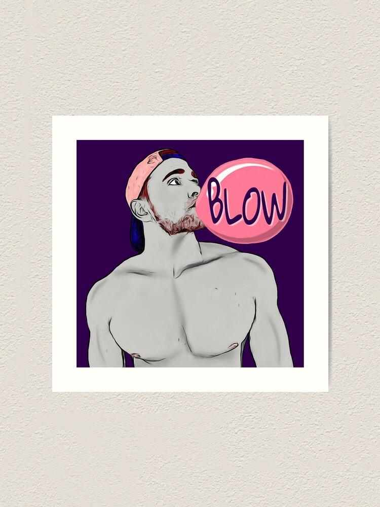 Alternate view of Blow (purple) Art Print