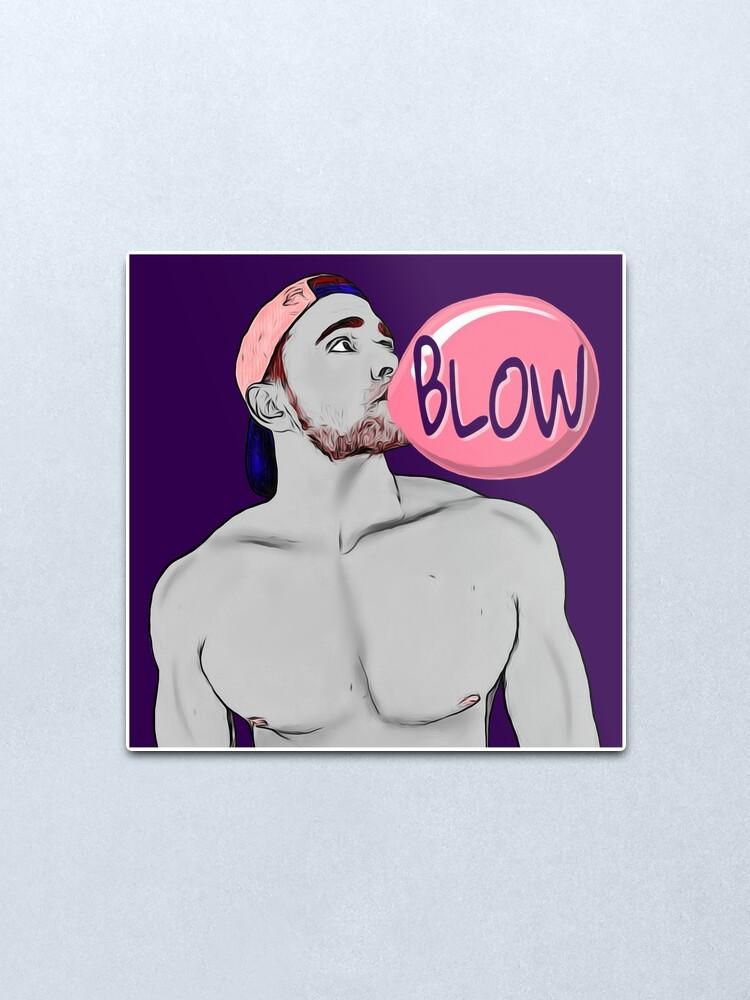 Alternate view of Blow (purple) Metal Print