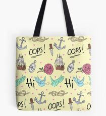 Larry Stylinson Complimentary Tattoo Pattern Tote Bag