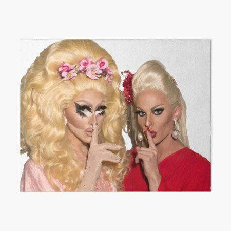 Shh - Trixie and Katya Art Board Print