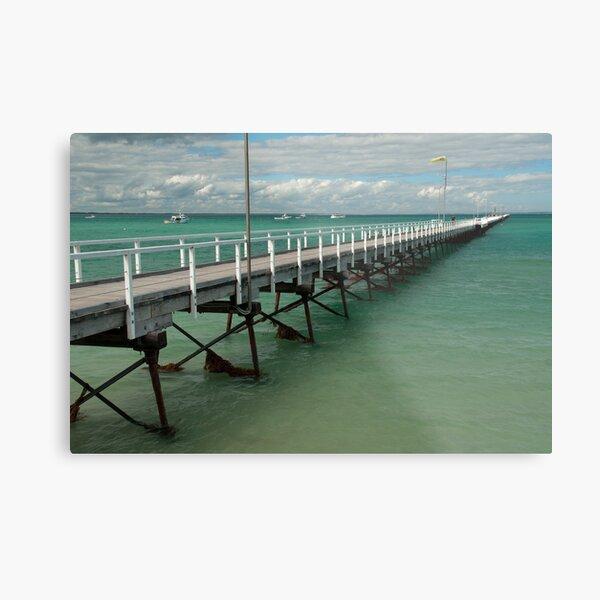 Beachport Jetty, South Australia Metal Print