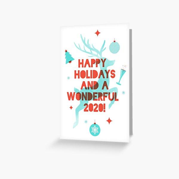 Reindeer Happy Holidays Greeting Card