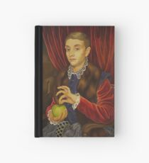 Boy With Apple Hardcover Journal