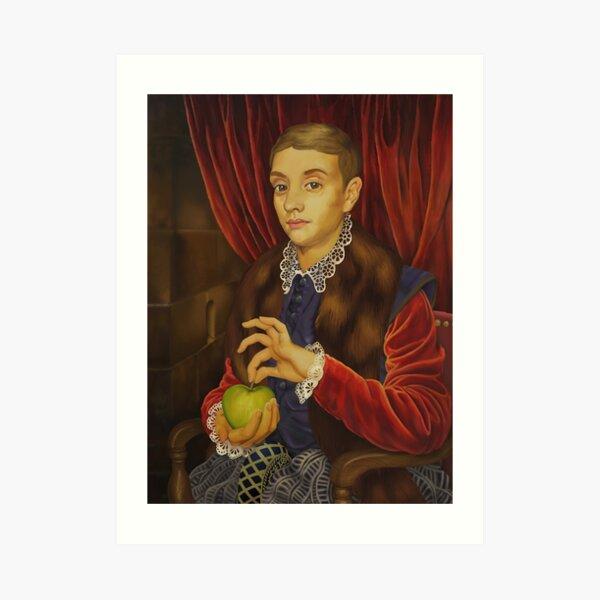 Niño con manzana Lámina artística