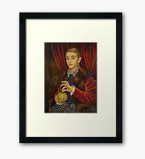 Boy With Apple Framed Print