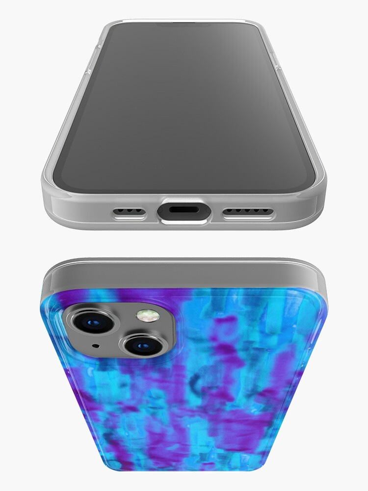 Alternate view of Jewel abstract marker texture as a seamless surface pattern design iPhone Case
