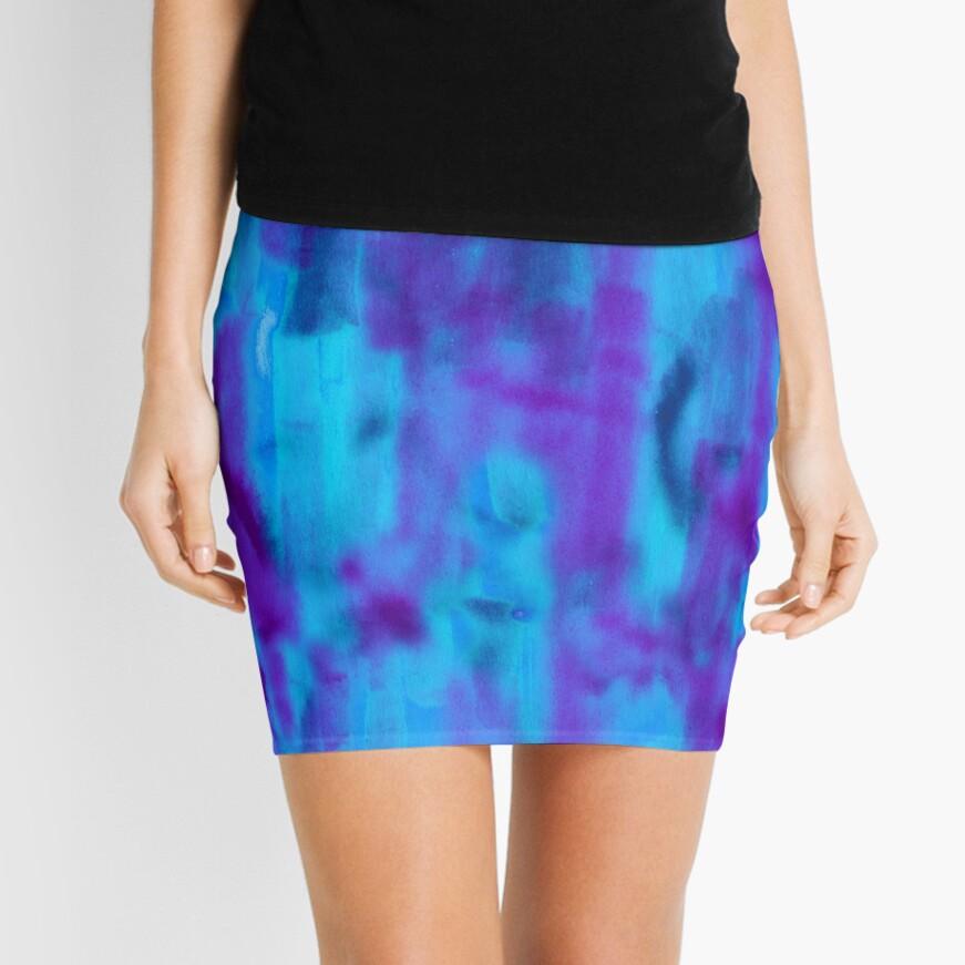 Jewel abstract marker texture as a seamless surface pattern design Mini Skirt