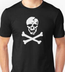Skull Squadron (white skull) Unisex T-Shirt