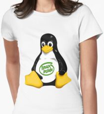 Linux Inside Women's Fitted T-Shirt