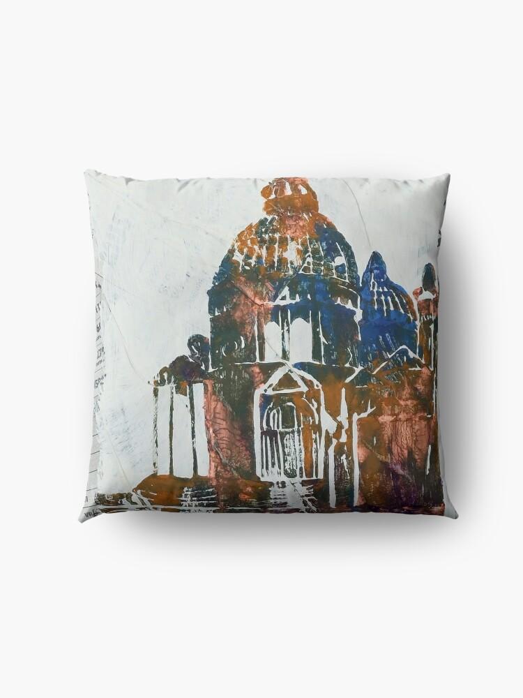 Alternate view of Salute Church - Venice, Italy Floor Pillow