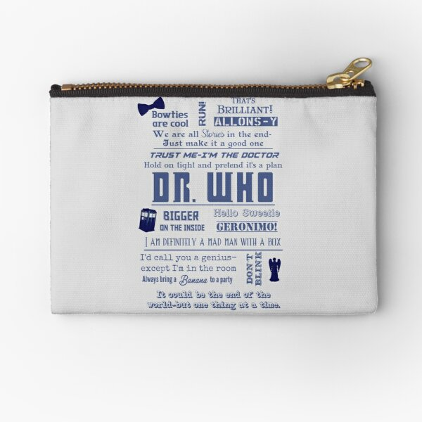 Dr. Who quotes II Zipper Pouch