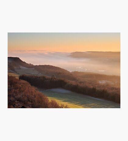 Temperature inversion - Scout Scar, Kendal Photographic Print