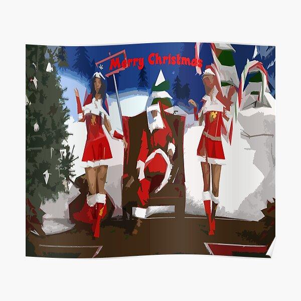Merry Christmas Santa Poster