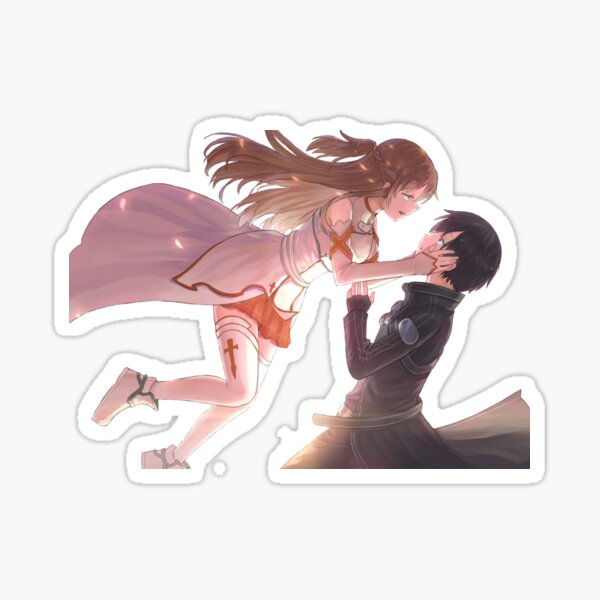 Asuna y Kirito aman - Sword Art Online - Pegatina