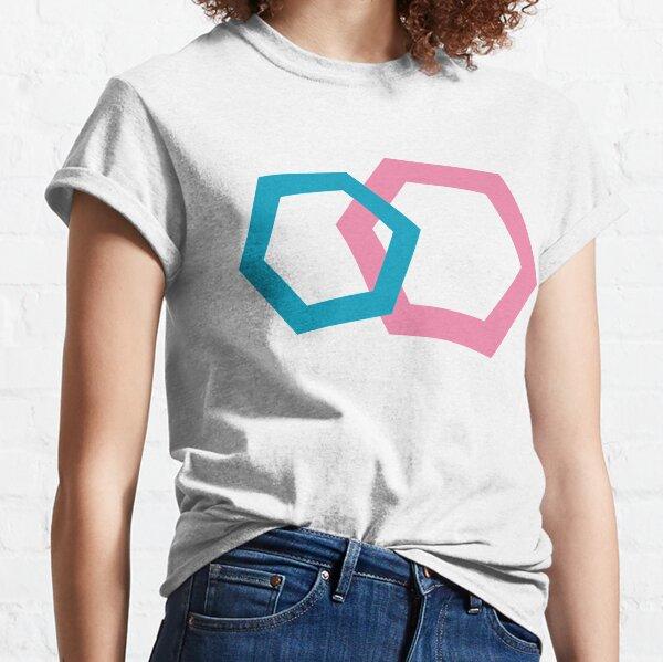 Cold Paper Bicolor Hex Landscape Classic T-Shirt
