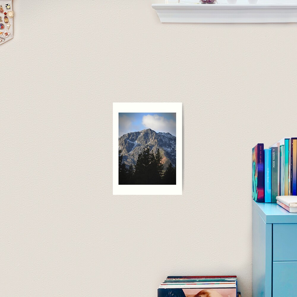 Mount Tallac Before the Storm Art Print