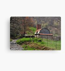 Barn by the Stream Metal Print