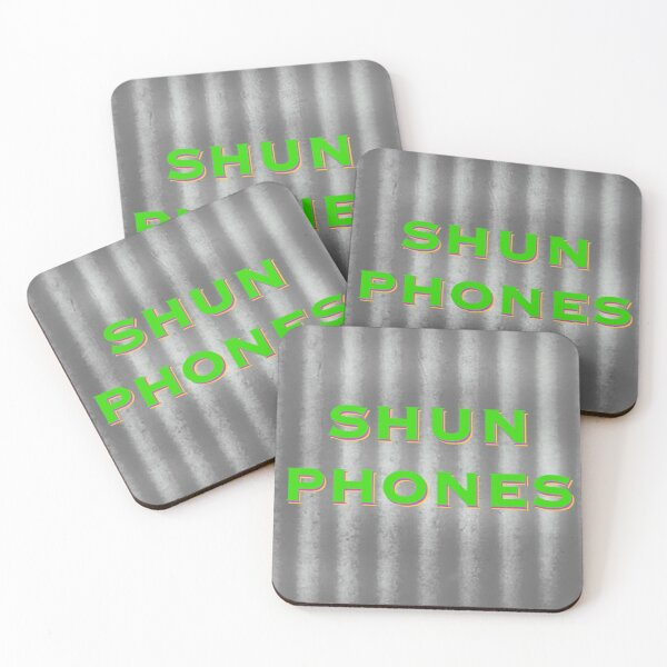 Shun Phones Coasters (Set of 4)