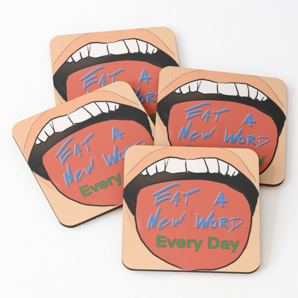 Eat a New Word Every Day Coasters (Set of 4)