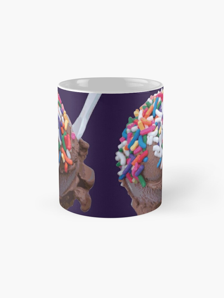 Alternate view of Warm Thoughts - Dark Chocolate Ice Cream with Rainbow Sprinkles Mug