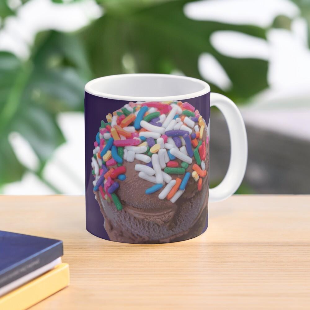 Warm Thoughts - Dark Chocolate Ice Cream with Rainbow Sprinkles Mug