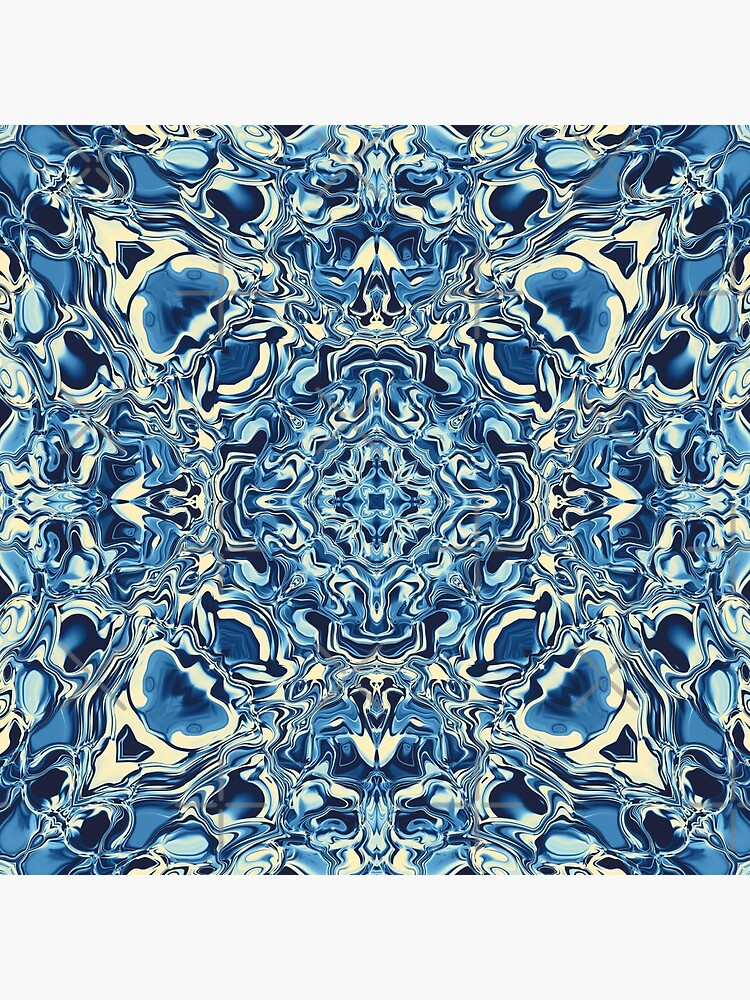 Liquefied Flow IV - Blue Cream by ifourdezign