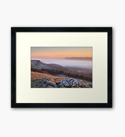 Scout Scar, Kendal - Temperature inversion Framed Print