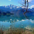 Blue Lake and Swan by Daidalos