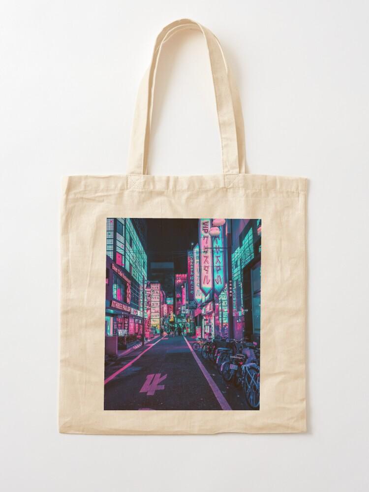 Alternate view of Tokyo - A Neon Wonderland  Tote Bag