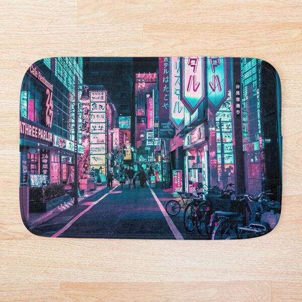 Tokyo - A Neon Wonderland  Bath Mat
