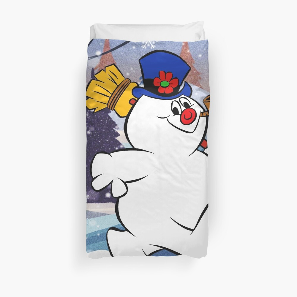 FROSTY THE SNOWMAN UNDER SNOWFLAKE  Duvet Cover