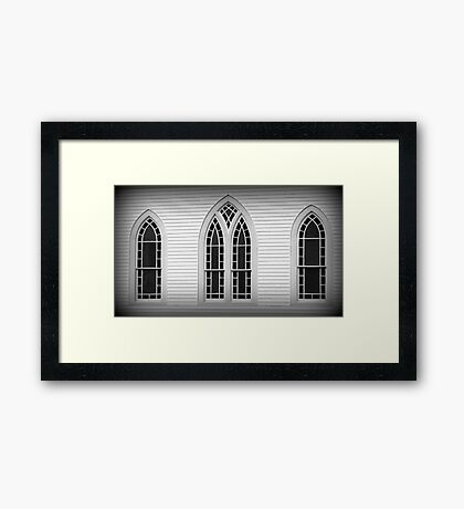 Windows to the Church Framed Print
