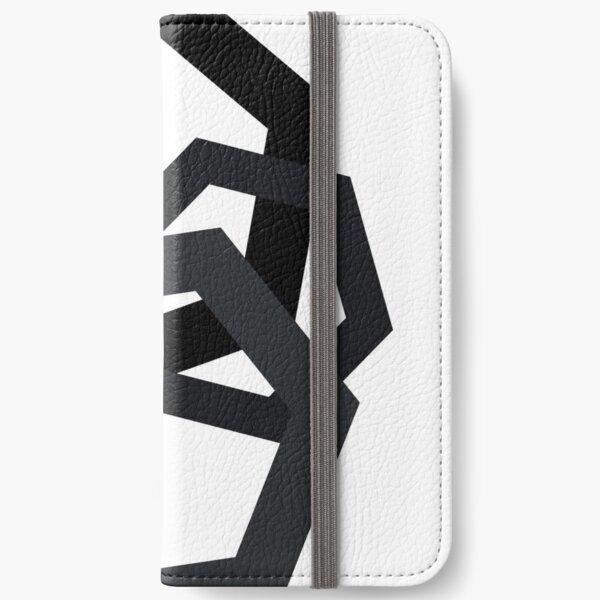 Cold Paper Dark Hex Portrait iPhone Wallet