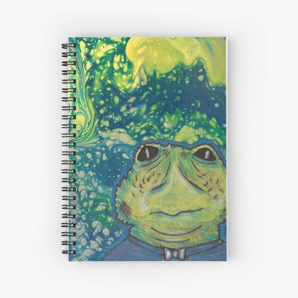 Cosmic Frog Man Spiral Notebook