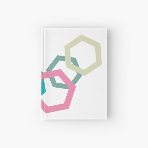 Cold Paper Colorful Hex Landscape Hardcover Journal