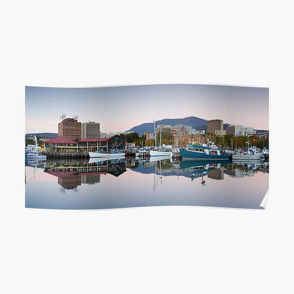 Victoria Dock Panorama, Hobart, Tasmania Poster